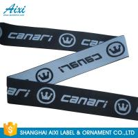China Custom Logo Soft Underwear Jacquard Elastic Waistband Spandex Webbing Tape wholesale