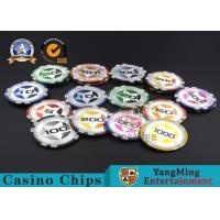 China ABS Casino RFID chips 12g Clay Poker Chips With Ultimate Sticker , 40mm Diameter wholesale