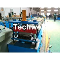 China Aluminium , PPGI Standing Seam Cold Roll Forming Machine With Hydraulic Cutting Type wholesale
