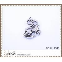 China stainless steel skull pendant with black enamel H-L1583 wholesale
