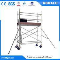 Buy cheap Single width aluminum scaffold tower with 2.0m standing height from wholesalers