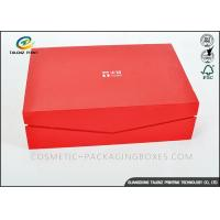 China Crimson Custom High End Cardboard Gift Boxes For Clothes / Cosmetic wholesale