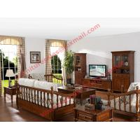 China Solid Wooden Carving Frame with Fabric Upholstery Sofa Set in Living Room Set wholesale