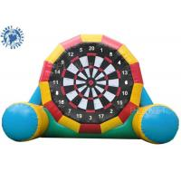 China 4.5mh Giant Inflatable Football Game / Double Sides Blow Up Soccer Dart Board on sale