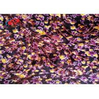 China 4 Way Stretch Burnout Velvet Fabric 95% Polyester 5% Spandex Fabric For Garment wholesale