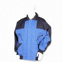 China Flame-retardant Work Jacket, Made of 65% Polyester and 35% Cotton wholesale