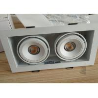 Buy cheap Double Head Trim Recessed Led Ceiling Lights 2700-3000K CCT White Finish from wholesalers