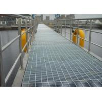 Quality Black / Silver Galvanized Metal Grating For Construction Welded Steel Material for sale