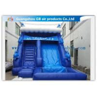 China Blue Large Wet Inflatable Water Slide Into Pool For Water Amusement / Garden wholesale
