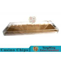 Quality 9 Row Acrylic Casino Chip Tray With High Permeability Plexiglass Plate for sale