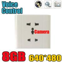Quality Home Security Wall Socket Outlet DVR Spy Hidden Camera Surveillance Audio Video for sale