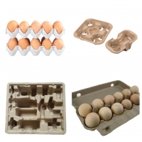 China Recyclable waste paper small egg tray making machine for chicken farm for sale