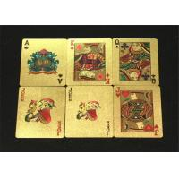 China Water Resistant Personalized Poker Cards / Custom 54 Card Deck wholesale
