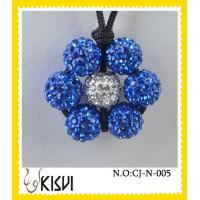 China High quality guarantee white and blue flower handcrafted crystal jewelry necklace wholesale