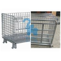 China Industrial Welded Wire Mesh Storage Cages Folding Structure For Shipping Container wholesale