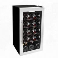 China 15-bottle Single Zone Free Standing Wine Cooler, 56L/1.98cu.ft Volume wholesale