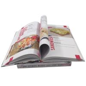China Paperback Hardcover Cookbook Custom Menu Printing Film Lamination wholesale