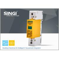 China 1 Pole Yellow Surge protector Device , Solar / DC lightning protection system wholesale