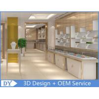 China OEM White  Jewellery Showroom Counter Designs With Led Light wholesale