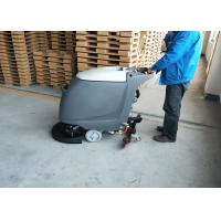 China 18 inch Brush Commercial Floor Scrubber Machine With Adjustable handle wholesale