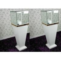 China Modern Wood Glass White Exhibition Cabinets , Lockable Jewellery Display Cabinets wholesale