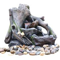 China OEM Acceptable Rock Water Fountains In Fiberglass / Resin Material wholesale