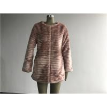 China Long Mauve Ladies Fake Fur Coats , Round Neckline Faux Fur Jacket TWS014531 wholesale