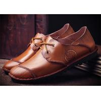 China Mark Thread Genuine Leather Formal Shoes For Men Customized Color Flat Heel wholesale