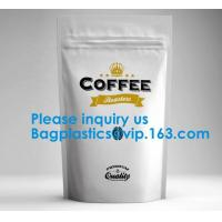 China High Barrier 16 oz Foil Stand up Zipper Pouch Coffee Bag with Valve,Resealable Food Storage Zipper Plastic Bag,Jar Kraft wholesale