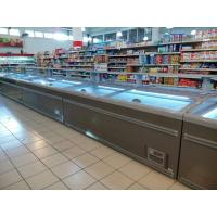 China 8 Ft Large Supermarket Freezer Sliding Glass Door Freezer For Chicken Storage wholesale