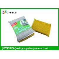 China High Density Kitchen Nylon Sponge Scrubber , Dish Washing Scrub Pads 4 Pack wholesale