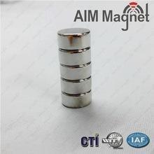 China n42 diametric magnetization disc shape rare earth magnet D6x12mm Zinc wholesale