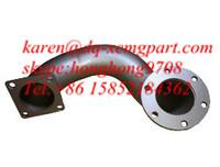 China Weichai Engine Exhaust Pipe Bended 612600110506, Xcmg wheel loader spare part wholesale