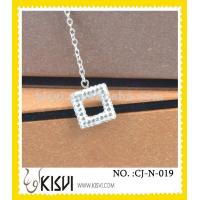 China OEM / ODM custom logo and style 925 sterling silver handcrafted crystal jewelry / necklace wholesale