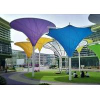 Buy cheap Colorful Tensile Fabric Structures , Roof Shade Structures For Park Shade Metal Frame from wholesalers