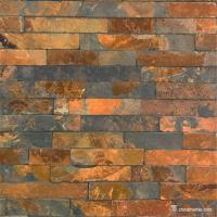 China Copper Rust Slate Culture Stone , Ledgestone Wall Panels For Siding / Veneer on sale