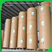 China 100% pulp offset paper / woodfree paper / and paper board Hot Sale wholesale