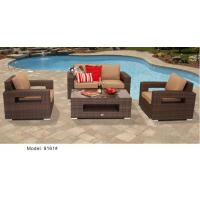 China 4 piece -weather resist PE wicker arm club chair and lovesat sofa  -9161 wholesale