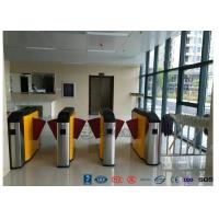 Quality Fingerprint Retractable Flap Wing Barrier Pedestrian Control Flap Barrier Speed Gate for sale
