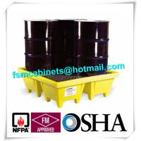 Quality Polyethylene 4 Drum Spill Containment Pallet For Transship Chemical Barrels / for sale