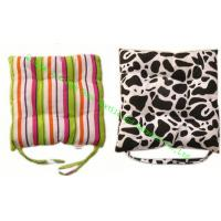 China Rural Style Cotton Canvas Seat Cushion , Soft Dining Chair Cushions For Office wholesale