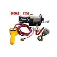China 12V 2000LB Heavy Duty Electric Winch Truck With ATV Rope Wireless Remote wholesale