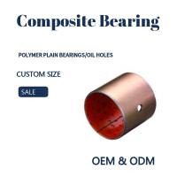 China Steel Bronze Red Polymer Plain Bearings Split Bushes Tin / Copper Made To Order wholesale
