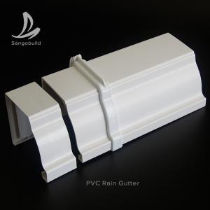 China Rectangular PVC Rain water Guttes Factory Wholesale Price UV Resistant Plastic PVC roof rain gutter aluminum rain gutter on sale