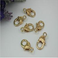 China Gold zinc alloy bag hardware mini 5 mm lanyard snap hook suitable for metal chains on sale