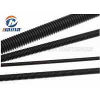 China Black Finished All Threaded Bar , Grade 5 Grade 8 Full Black Threaded Rod wholesale