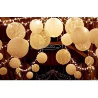 China Carved Round Hanging Paper Lanterns Indoor For Party Decoration wholesale
