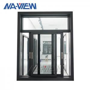 China Black Aluminum Casement Windows Sliding Open anodized Surface wholesale