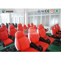 Quality Dynamic Movie Theater Seats In 5D Motion Theatre With Electric / Pneumatic / Hydraulic System for sale
