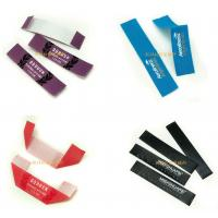 Ribbon Printed Brand Name Tags For Clothes , Custom Clothing Labels No Minimum